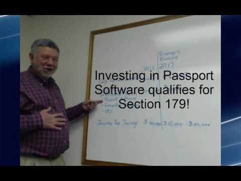 Save Big Money in 2016 using Section 179 - Passport Software, Inc. - 847-729-7900