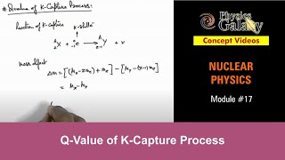 Q-Value of K-Capture Process (NR11YA)