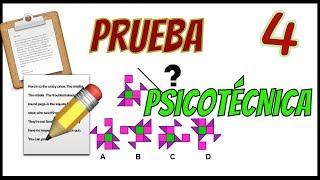 PRUEBA PSICOTÉCNICA - Ejemplo 04 - figuras, numericas, personalidad