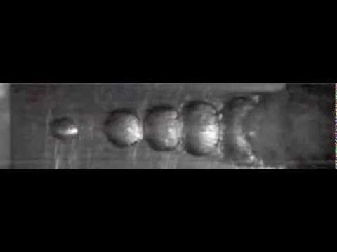 Traveling Bubble Cavitation on NACA0009 Hydrofoil (18000 fps)