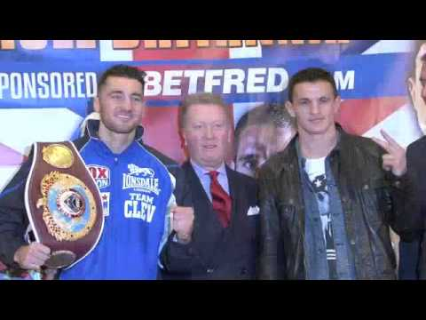 NATHAN CLEVERLY v ROBIN KRASNIQI - HEAD TO HEAD @ FINAL PRESS CONFERENCE / RULE BRITANNIA