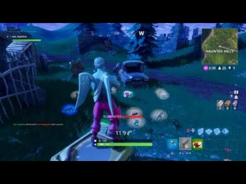 Amazing Statue Kill Haunted Hills In Fortnite Battle Royale