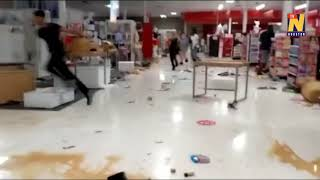 Inside Minneapolis store as looters rampage