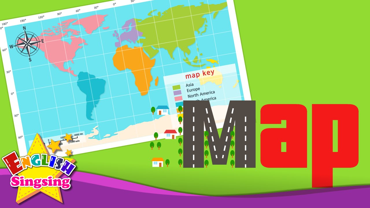 Kids vocabulary - Map - Using a map - Learn English for kids - English on