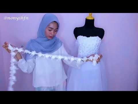 Bikin Wedding Dress Budget UNDER 200k TANPA JAHIT MESIN!!!