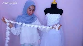 Download Video Bikin Wedding Dress Budget UNDER 200k TANPA JAHIT MESIN!!! MP3 3GP MP4