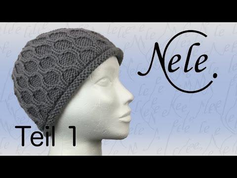 Mütze stricken für Anfänger, Strickmütze mit Wabenmuster, DIY – Anleitung by Nele C.