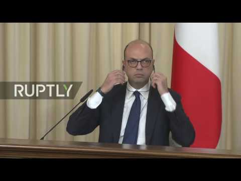 LIVE: Lavrov and Italian FM Alfano talk to the press in Moscow