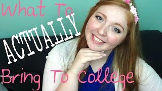 ❤ What to ACTUALLY Bring to College! ❤ Thumbnail