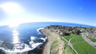 360 Nikon Palos Verdes Cliff Flying Mavic Pro Keymission Part 1