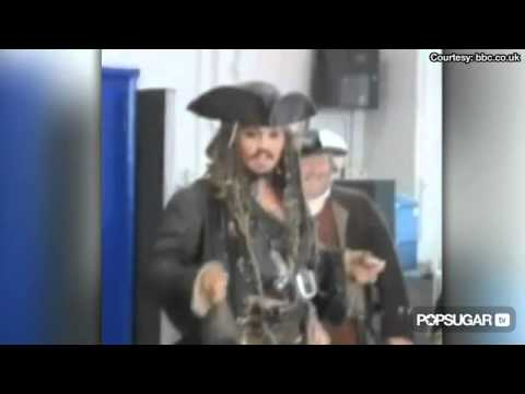 Johnny Depp Surprises School Children Dressed as Jack Sparrow