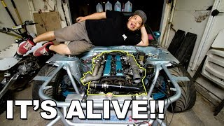 Firing up the 1JZ swapped S13!!!