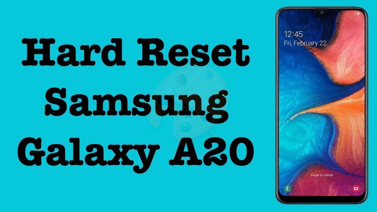 Hard Reset Samsung Galaxy A19  Factory Reset Samsung Galaxy A19   NexTutorial