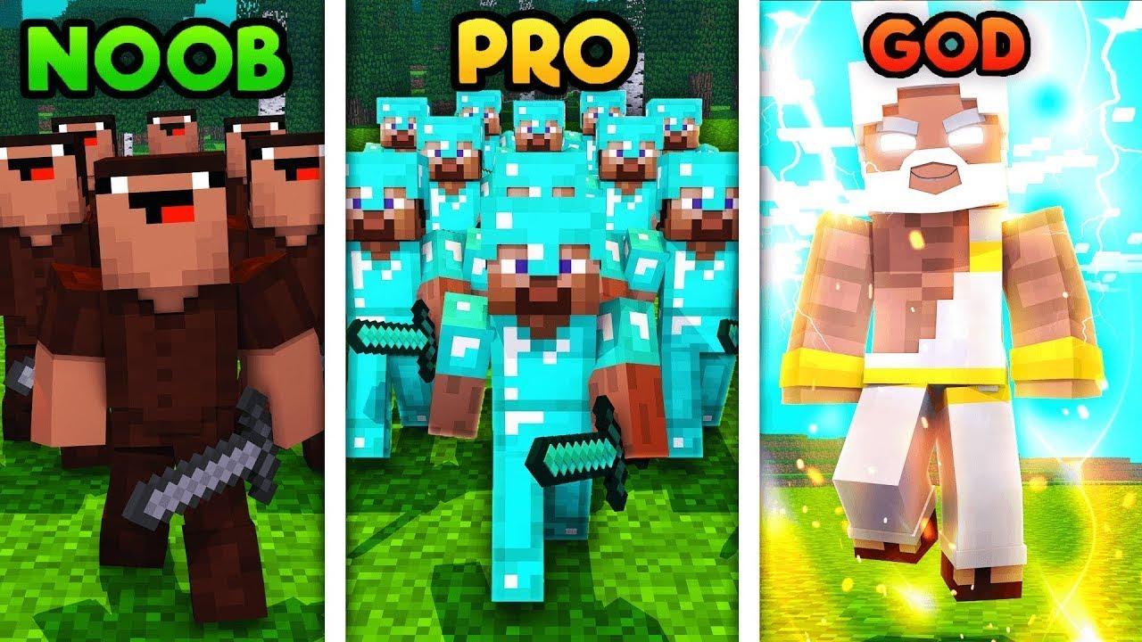 Minecraft NOOB vs. PRO vs. HACKER : SUPER SWORD Challenge in Minecraft