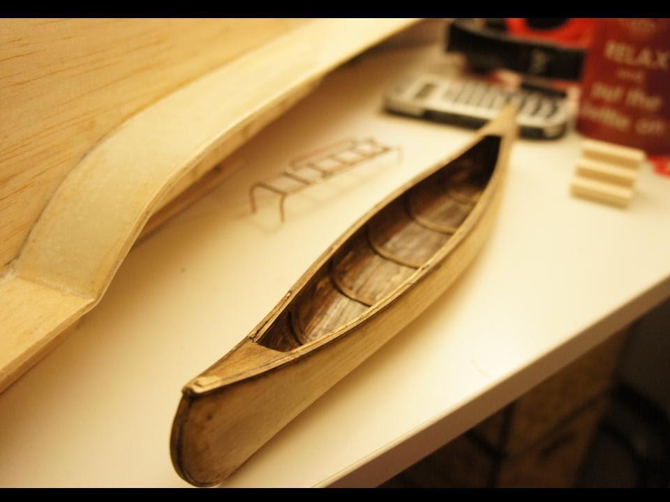 How to Make a Model Canoe - YouTube