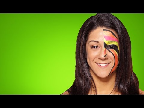 Bayley becomes The Ultimate Warrior: WWE Halloween Makeup Tutorial