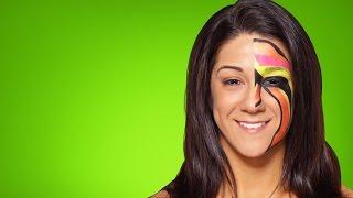 Bayley becomes The Ultimate Warrior: WWE Halloween Makeup Tutorial