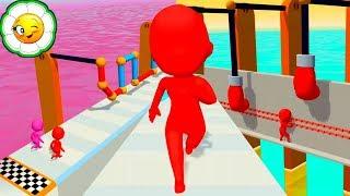 Fun Race 3D #1  Преодолей препятствия и обгони соперников! Новая Паркур Игра! 1-14 уровни