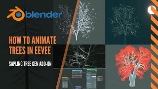 Easy animated trees in Blender 2.8 EEVEE, how to use Sapling Tree Generator add-on tutorial