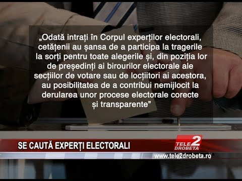 SE CAUTĂ EXPERȚI ELECTORALI
