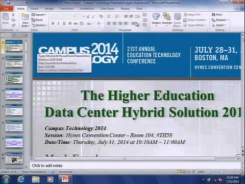The Higher Education Data Center Hybrid Solution 2014