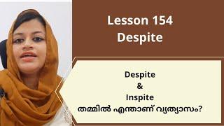 Despite|| Lesson 154|| Spoken English Malayalam|| Sanam Noufal
