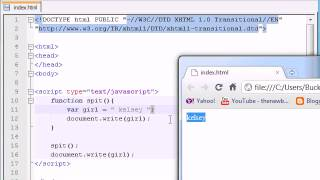 Beginner JavaScript Tutorial -- 11 -- Global Local Variables