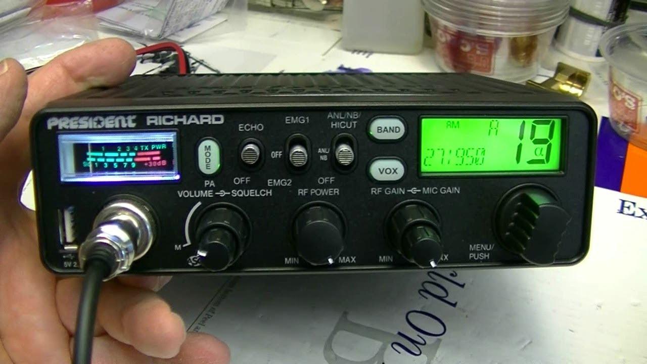 Schemi Elettrici Radio Cb : New president radio the richard am fm youtube
