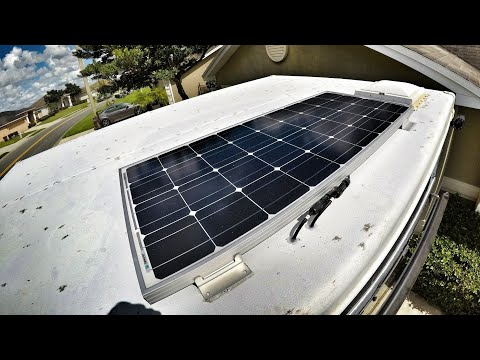 How to install solar on a pop up camper Ep8