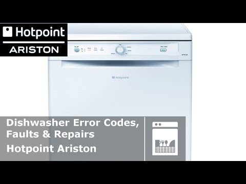 Hotpoint Ariston dishwasher error codes and faults Diagnostic fault
