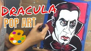 Bela Lugosi Dracula Pop Art | Acrylic Painting Tutorial for Beginners | Halloween