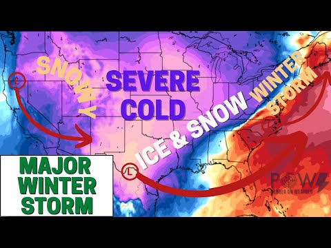 Major Winter Storm! Damaging Ice Storm, Heavy Snow & Severe Cold! - POW Weather Channel