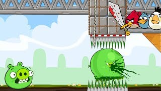 Crush Bad Piggie! - ALL BAD PIGS GOT TRAPPED BY 3 ANGRY BIRDS!