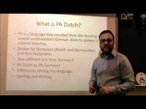 PA Dutch 101: Video 1 - An Introduction.m4v