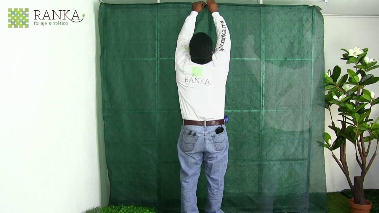 Cmo instalar un muro verde con follaje artificial Ranka HD  YouTube