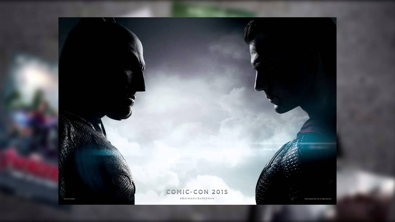 Official Batman V Superman Comic Con Poster