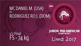 1/2 FS - 74 kg: M. MC DANIEL (USA) df. J. RODRIGUEZ RO (DOM) by FALL, 4-0