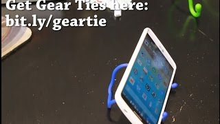 How To Make Smartphone Tablet Stand With Gear Tie!