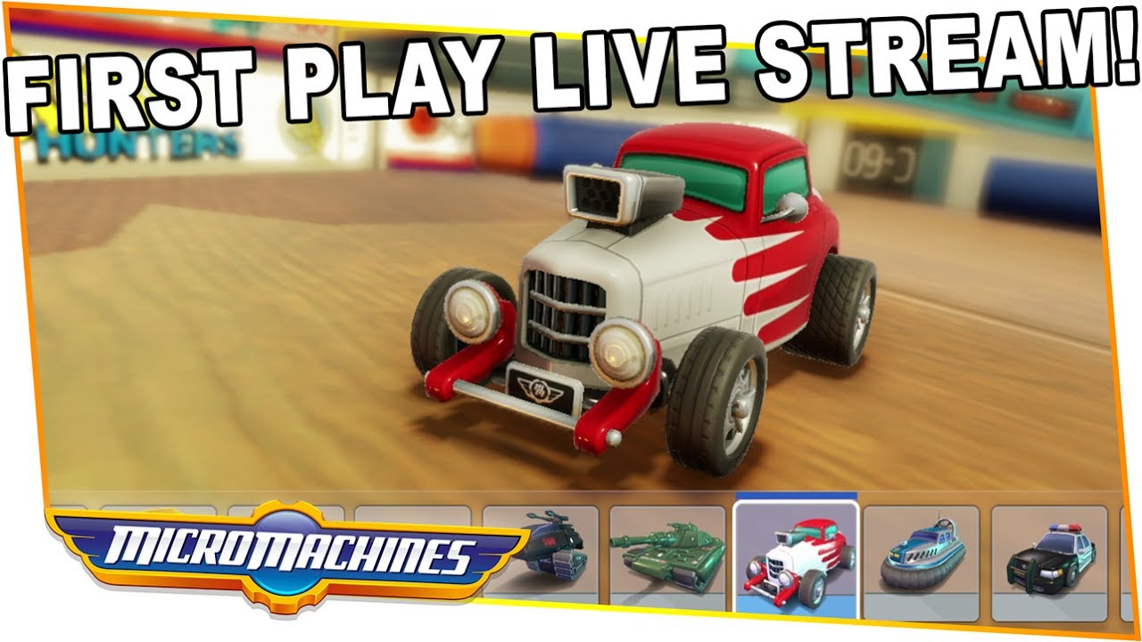 first play micro machines world series live stream youtube. Black Bedroom Furniture Sets. Home Design Ideas