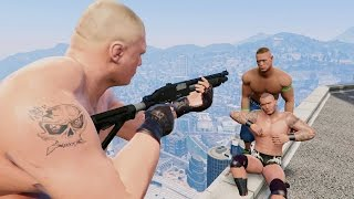 GTA 5 Randy Orton John Cena WWE Mod!(GTA V Brutal kill Funny moments)