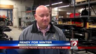 Winter is the busiest time of year for some Kings Island workers