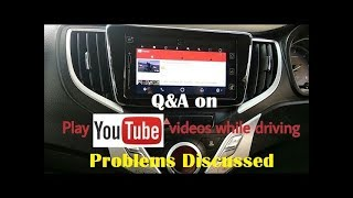 Q&A on How To Play YouTube videos in Apple carplay of Baleno while driving