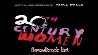 20th Century Women Soundtrack list