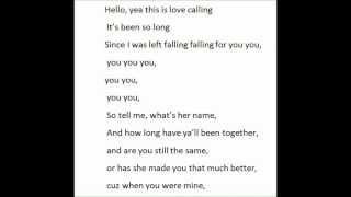 Love Calling- Auburn Lyrics