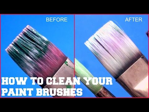 How To Clean Your dried acrylic Paint Brushes | 2017
