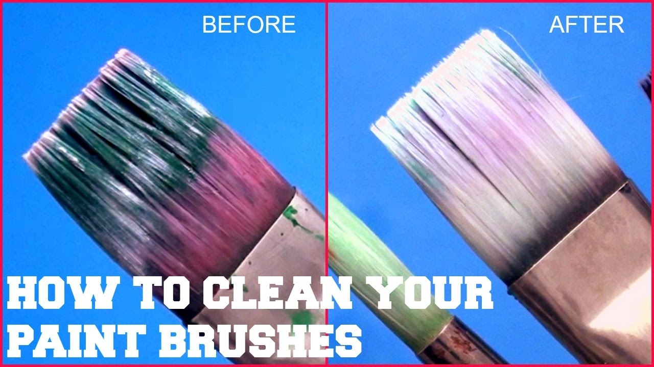 How To Clean Old Art Paint Brushes