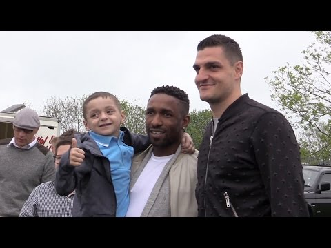 Jermain Defoe Attends Bradley Lowery's Sixth Birthday Party