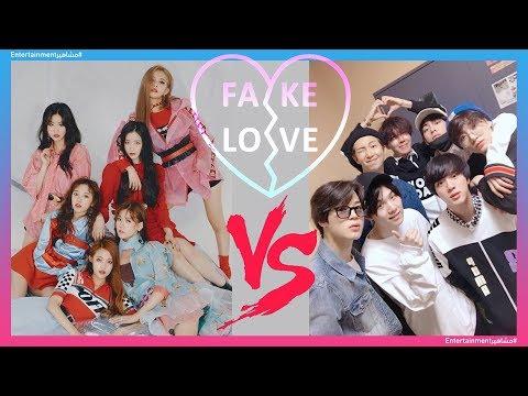 BTS vs. (G)I - DLE - FAKE LOVE 💗