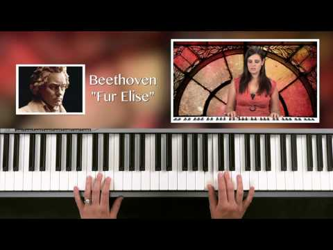 """Fur Elise"" by Beethoven - Easy piano tutorial for beginners!"