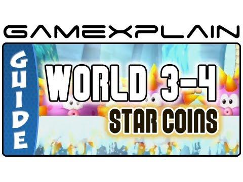 New Super Mario Bros. U - Sparkling Waters-4 Urchin Shoals Star Coins Guide & Walkthrough